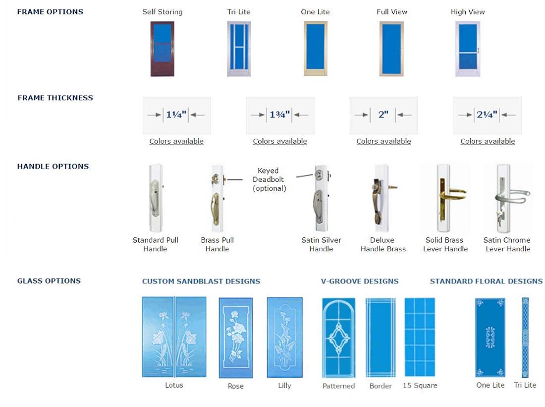 Storm doors options Windowtech